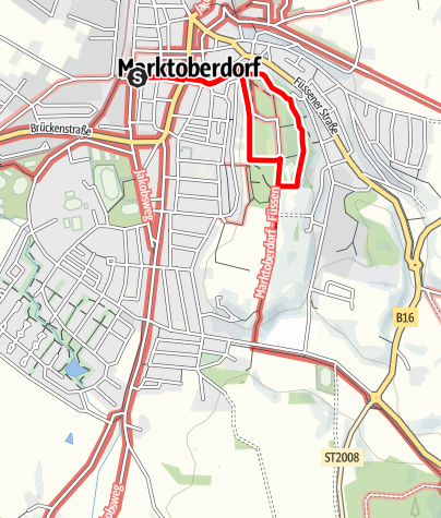Karte / Wandertrilogie Allgäu - Trilogierundgang Marktoberdorf