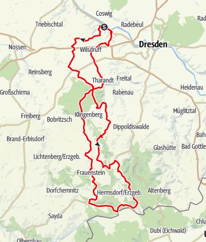 Karte / Gut Wildberg - Erzgebirge