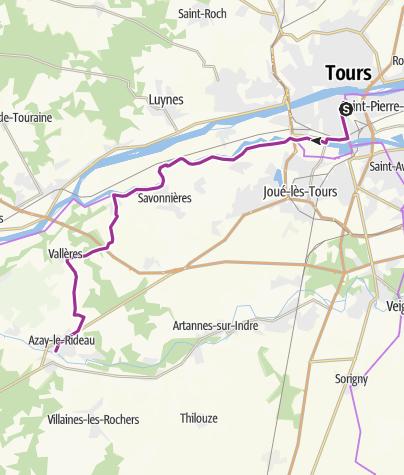 Map / Tours to Azay le Rideau