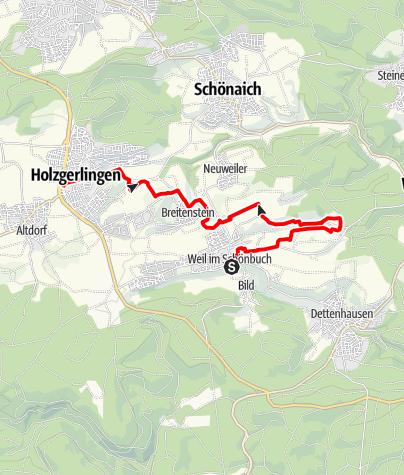 Karte / Natura Trail auf der Schönbuchlichtung