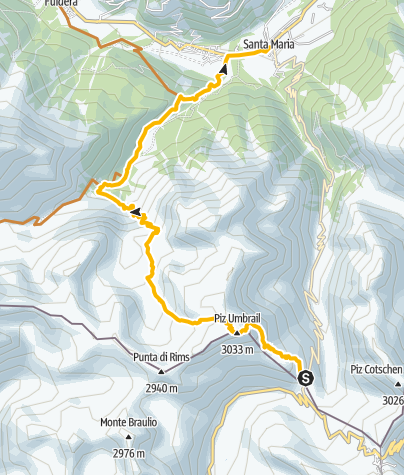 Map / Piz Umbrail
