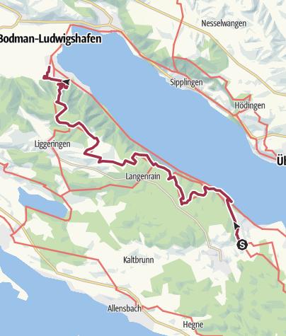 Karte / Wilde Tobel und alte Burgen [Umleitung] Etappe 2: Von Wallhausen über den Bodanrück nach Bodman-Ludwigshafen