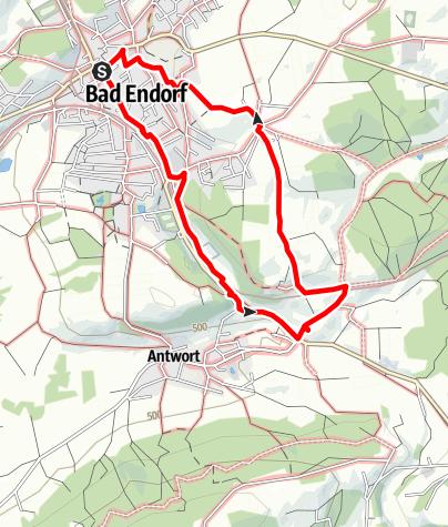 Karte / Meditativer Kirchenspaziergang Route 1