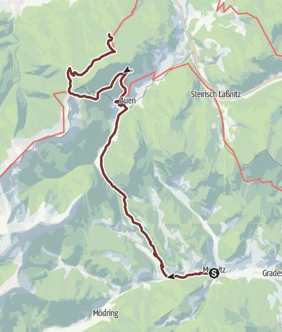 Map / Leonhardsweg Etappe G2: Metnitz - Frauenalpe (GH Kriesche)