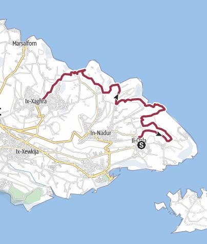 Map / Qala to Xaghra