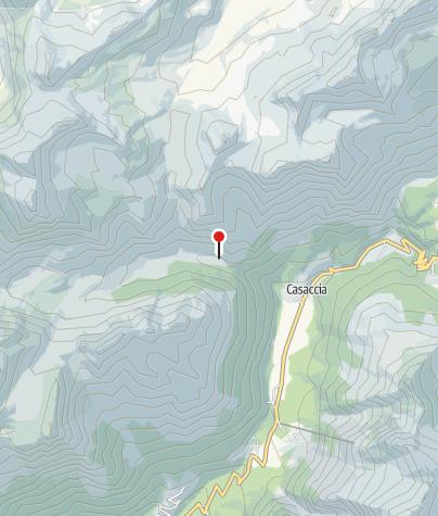 Karte / Umleitung infolge Felssturz beim Septimerpass