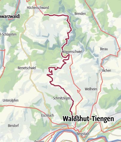 Karte / Höchenschwand, Weilheim, Waldshut-Tiengen: Wolfssteig