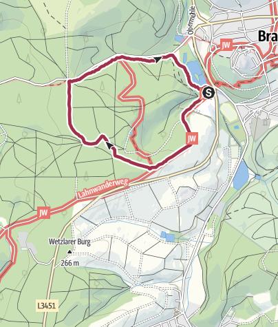 Karte / Braunfels - Eichblattweg