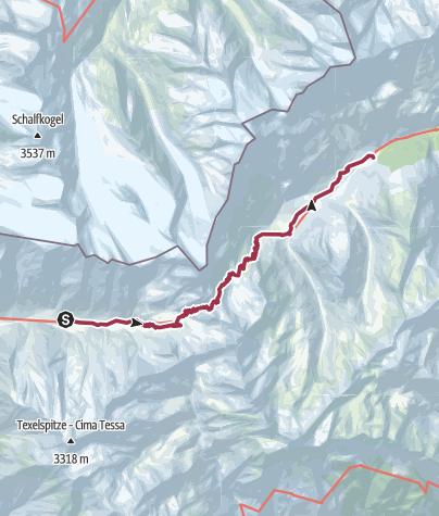 Cartina / Possibile tappa Alta Via di Merano 4: Dal Maso Gelato a Plan