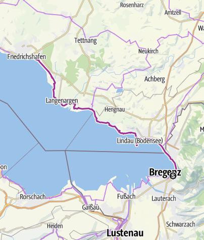 Der Bodensee Radweg Abschnitt Zwischen Bregenz Und Friedrichshafen