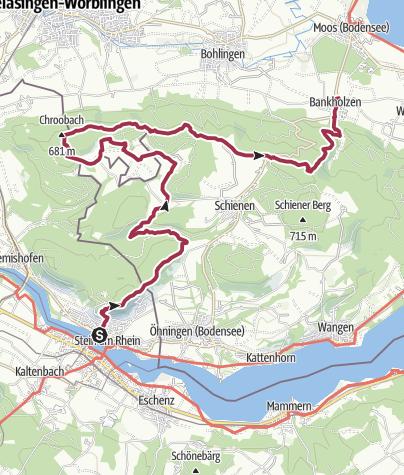 Karte / Auf dem Firstweg von Stein am Rhein nach Bankholzen