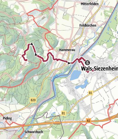 Karte / Wanderung auf den Johanneshögl ab Wals