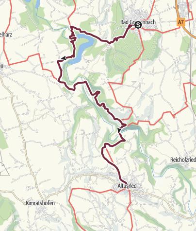 Karte / Umleitung Wandertrilogie Etappe 06/07 - Bad Grönenbach / Illerbeuren - Altusried