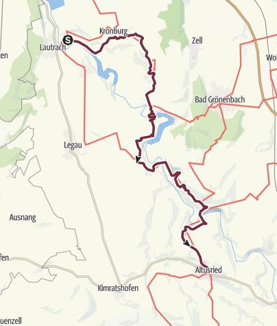 Karte / Umleitung Wandertrilogie Etappe 07 Illerbeuren - Altusried