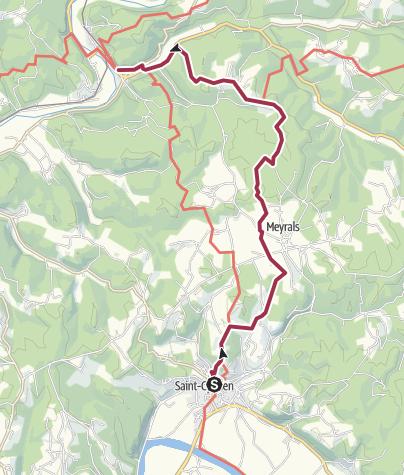地图 / Saint Cyprien to Les Eyzies