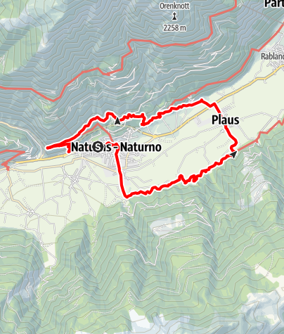 Karte / Meraner Waalrunde & Sonnenberger Panoramaweg