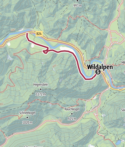 Karte / Wildalpen - Burgstallort