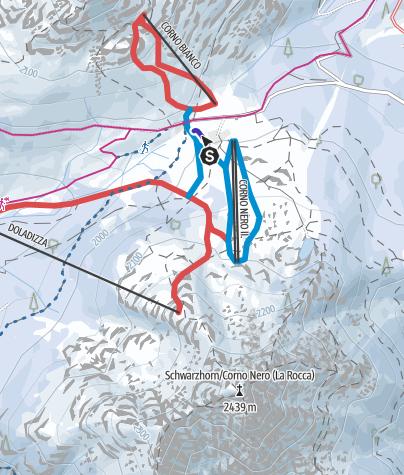 Cartina / Fantiland - campo scuola e pista da slittino - Passo Oclini