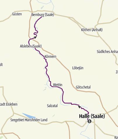 Halle Saale Karte.Saaleradweg Etappe 8 Von Halle Saale Nach Bernburg