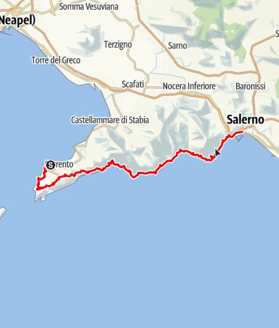 Map / Amalfitana - An Italian dream-road between the sky and the sea