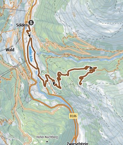 Map / Bike Route Brunnenbergalm (652)