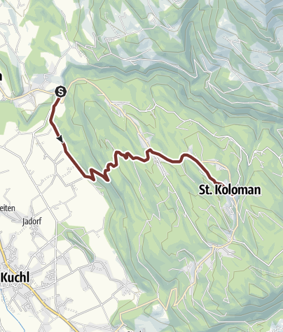 Map / Leonhardsweg Etappe 05: Kuchl (Römerbrücke) - St. Koloman