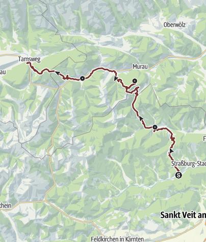 Map / Leonhardsweg von Gurk nach Tamsweg