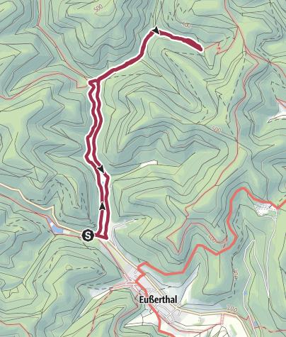 Karte / Tag des Wanderns des PWV Bezirk Süd - Eußerthal - Pottaschtalhütte und zurück