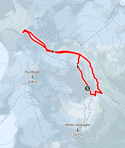 Karte / Schwarzwandspitze