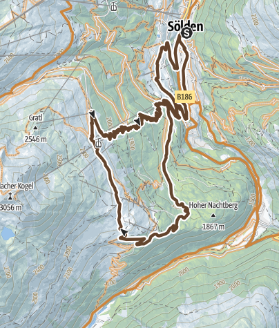 Map / Enduro Mittelstation Runde - L