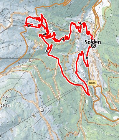 Karte / Enduro Rettenbach - N