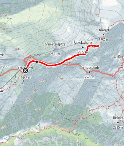 Karte / Hannover kleiner Ankogel (3.096m) Sommer
