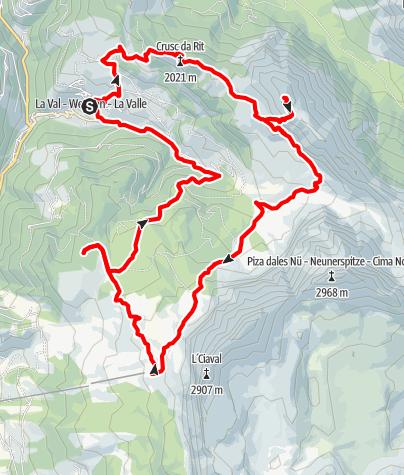 Map / Hike on the route of the hiking marathon Tru di pra