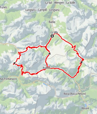 Cartina / Maratona dles Dolomites – orange Strecke