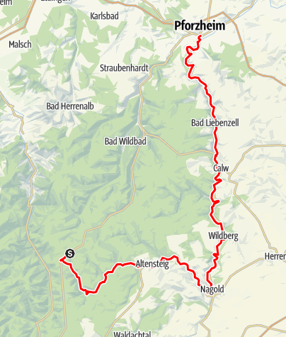 Karte / Nagoldtalradweg Neuauflage Original
