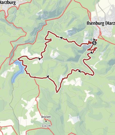Karte / Harzer Wandernadel - 9 Stempel rund um Ilsenburg