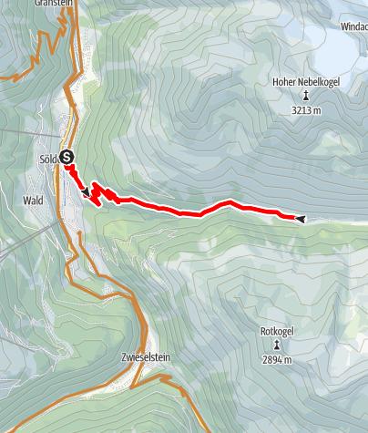 Karte / Biketour zur Lochle Alm (6022)