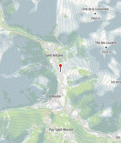 Karte / Chalet Alpin l'Eychauda des FFCAM (CAF) in Pelvoux