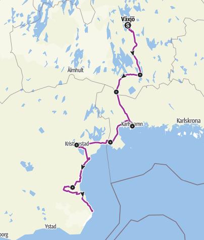 Map / Sydostleden – Whole tour