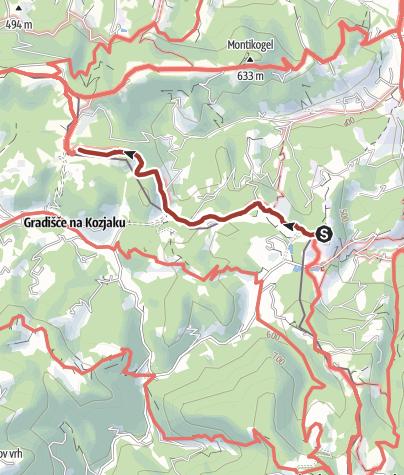 Karte / UrKräuterweg am Remschnigg