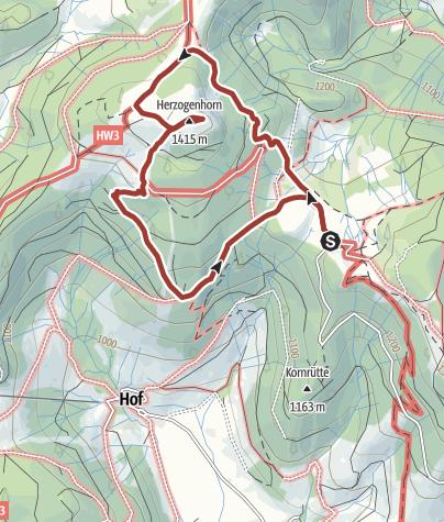 Karte / Naturlehrpfad Herzogenhorn