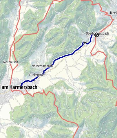 Map / Reichstalpfad von Oberharmersbach-Dorf nach Zell am Harmersbach