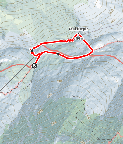 Karte / Hannoverhaus- Bergstation Ankogelseilbahn- Arnoldhöhe- Grauleiten