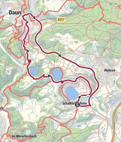 Karte / MICHELS WellnessHotel:  Drei-Maare-Tour nach Daun und zurück
