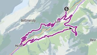 Map / Hockmatte round trip past Betten and Bister
