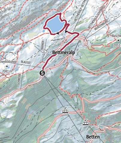 Karte / Rundwanderung um den Bettmersee