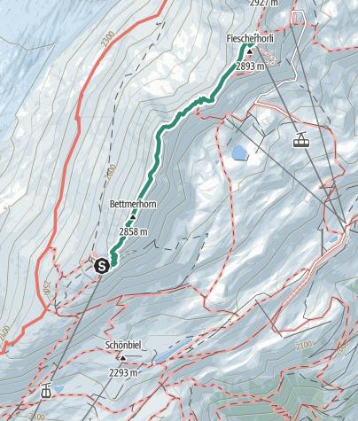 Map / Alpine hike: UNESCO high-altitude trail from Bettmerhorn to Eggishorn