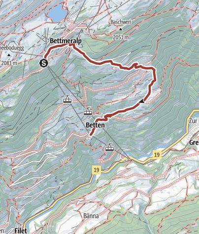 Karte / Kulturlernpfad Bettmeralp