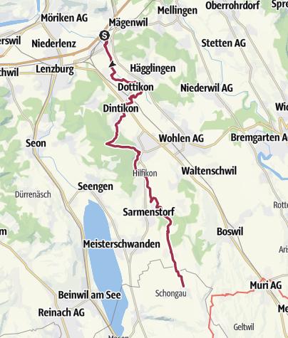 Karte / Freiämterweg (1): Othmarsingen - Schongau