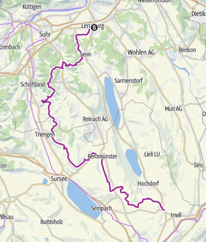Karte / Herzschlaufe Seetal Westast - SchweizMobil Route 599